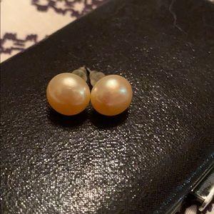 Pink Pearl Earrings - NWOT